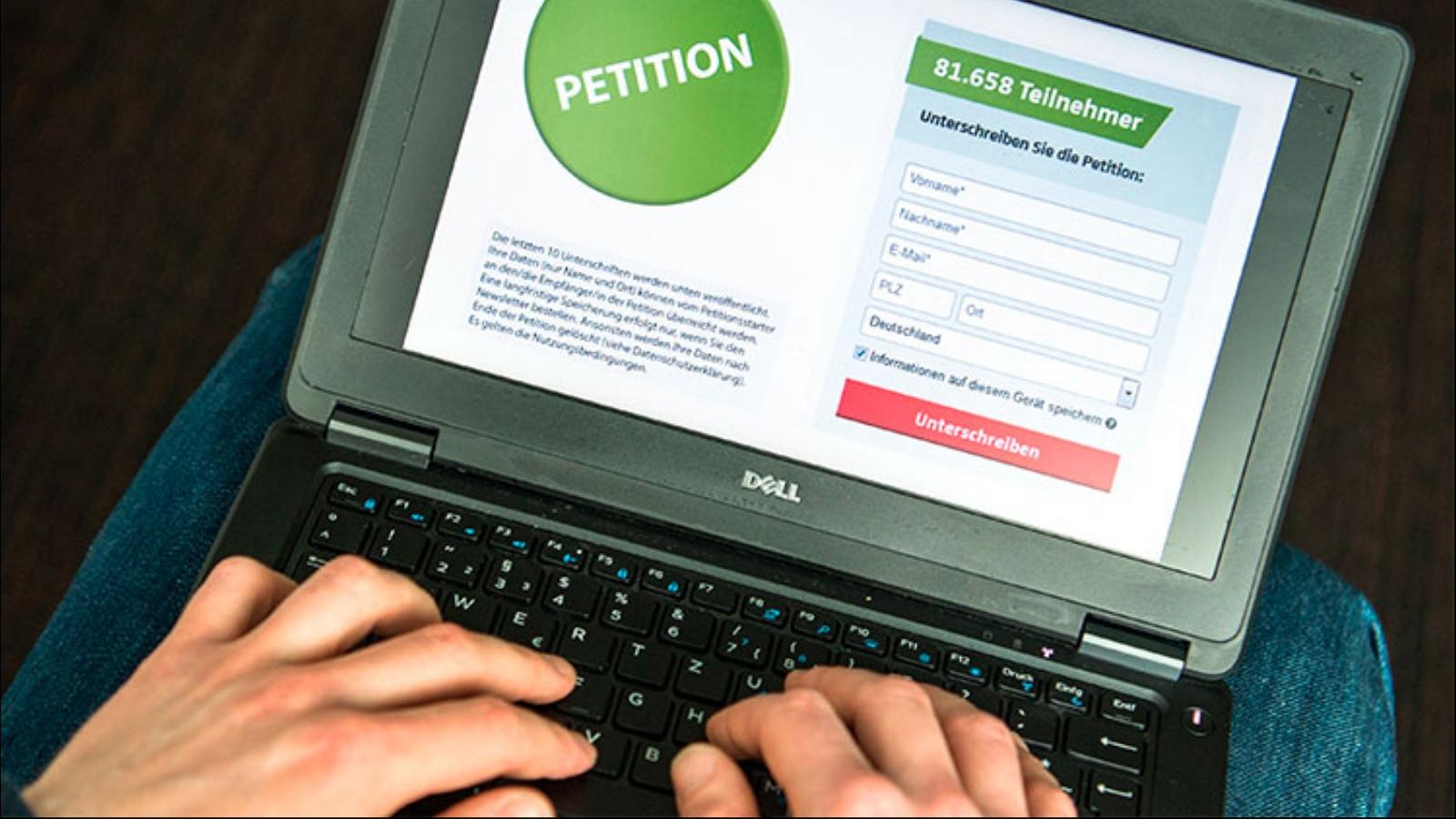 Об онлайн-петициях с юридической точки зрения